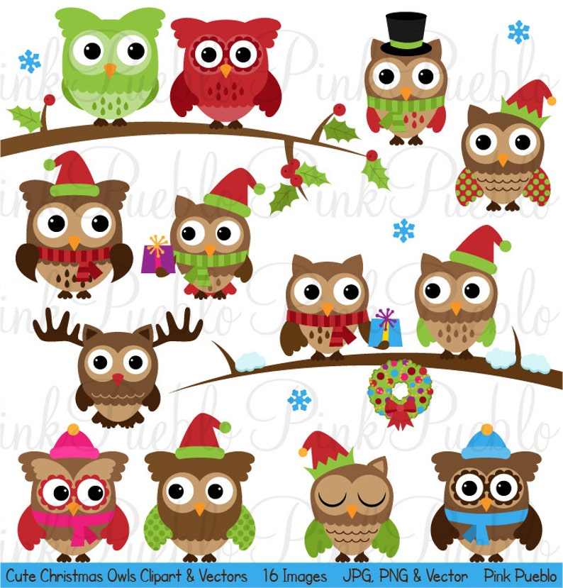 Cute Christmas Owl Clipart Clip Art Winter Owls Clip Art ...