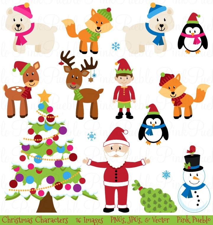 Weihnachten Clipart ClipArt Weihnachten Tier Clipart ClipArt | Etsy