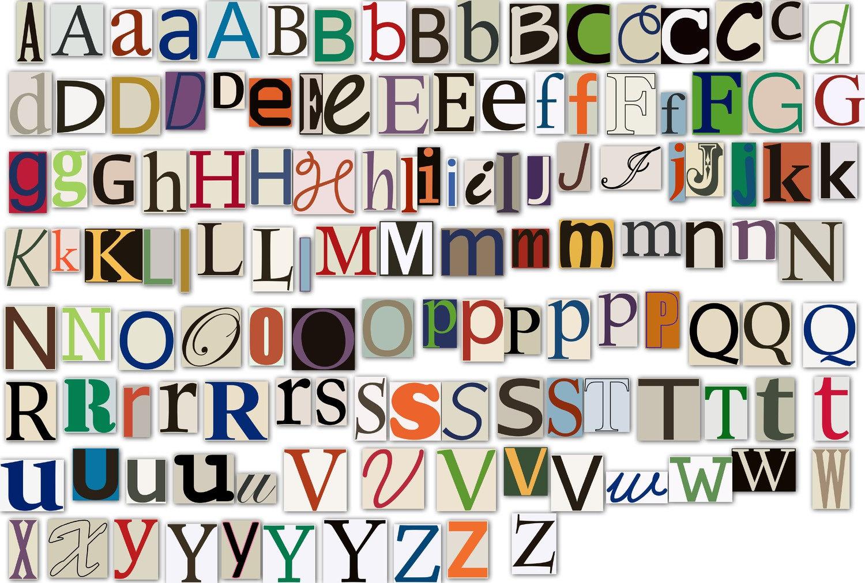 Magazine Letters Clipart Clip Art Newspaper Magazine Alphabet   Etsy