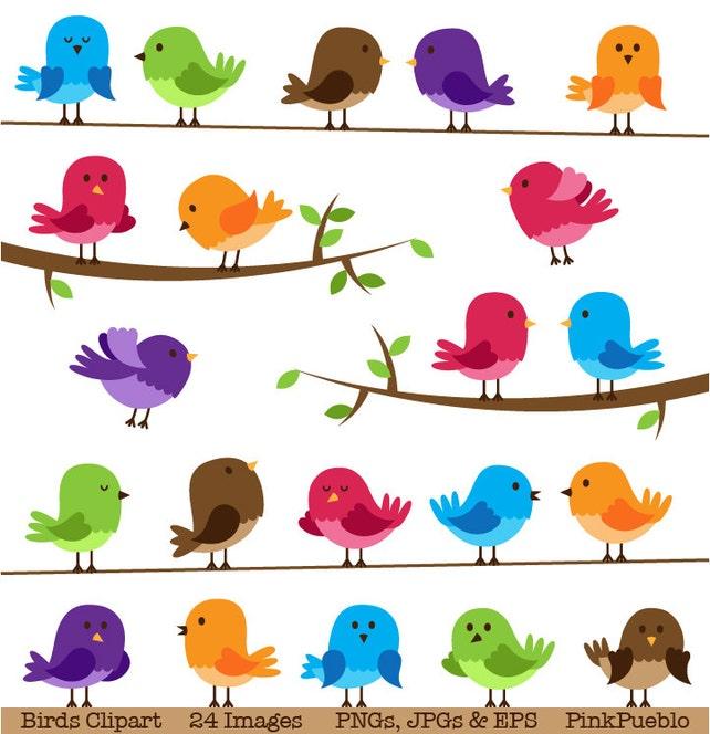 Vögel-Clipart ClipArt kommerziellen und persönlichen | Etsy
