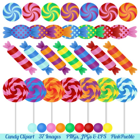 Candy Clipart Clip Art With Lollipops Peppermints Hard