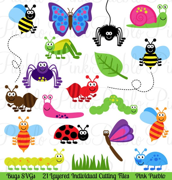 Bugs SVGs Cute Insect Cutting Templates Commercial and | Etsy
