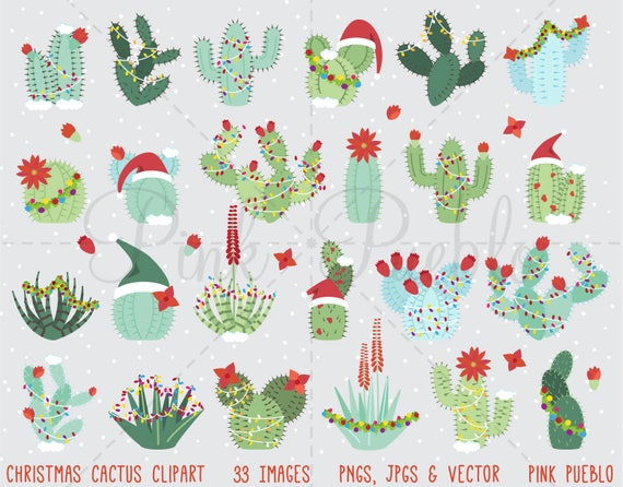 Christmas Cactus Clipart.Christmas Cactus Clipart Christmas Cactus Clip Art Succulent Clipart Succulent Clip Art Commercial And Personal Use