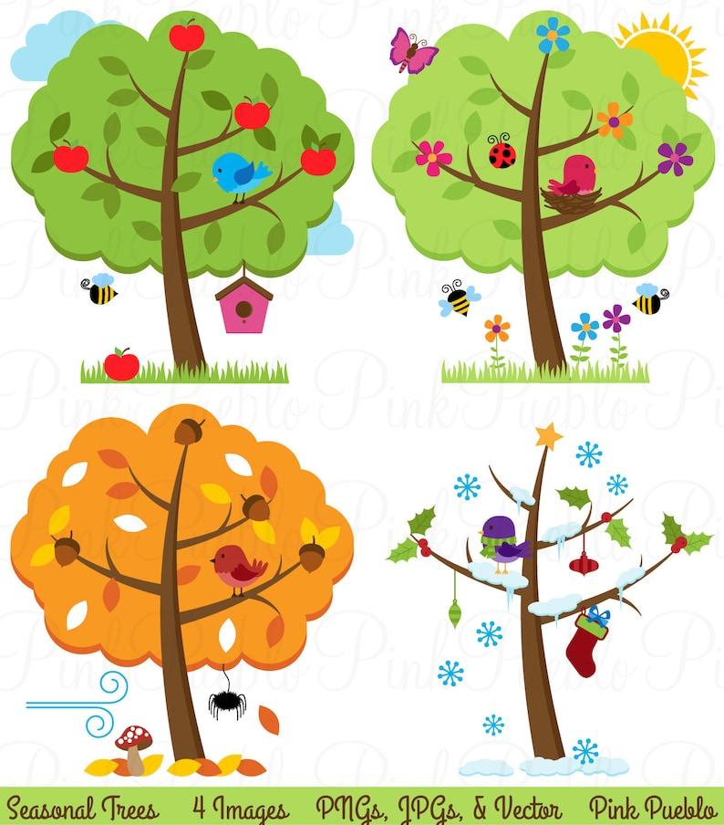 vier jahreszeiten bäume clipart clipart saisonale bäume