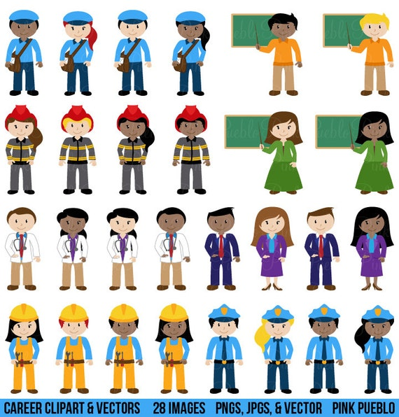 People Clipart Clip Art Includes Character Career Teacher Etsy