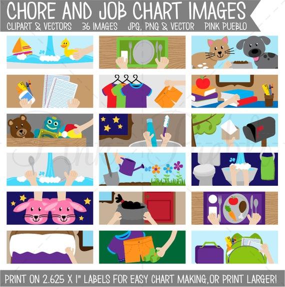 chore chart clipart printable chore chart for kids chore etsy rh etsy com chore chart clipart free chore chart clipart free