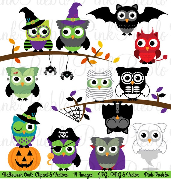 Halloween Owl Clipart Clip Art Cute Happy Bird