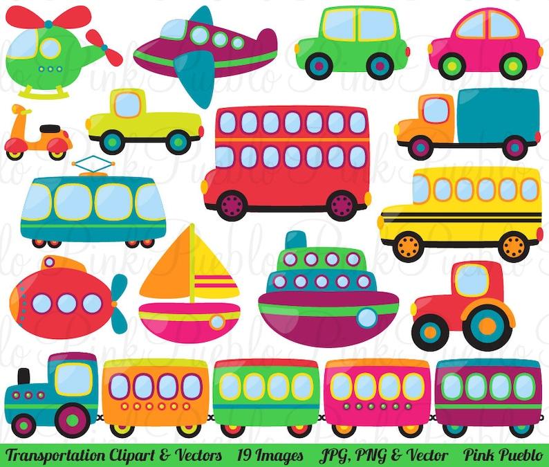 Transportation Clipart Clip Art Vectors Great For Kids