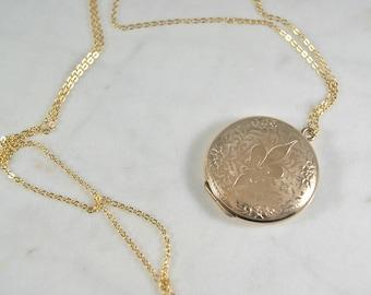 Gorgeous Vintage Gold-Filled locket necklace