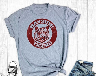 ab01f4b05 Bayside Tigers Shirt, Saved By The Bell Shirt, Vintage Style Shirts, The  Max, Zach Morris, Funny Graphic Tee