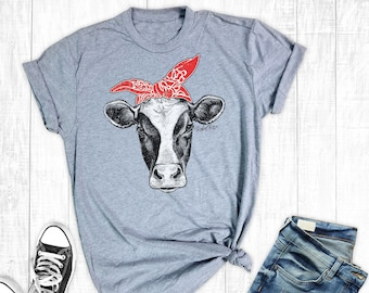 c6da94f4 Cow T-Shirt, Women's T-shirt, Farm Shirts, Graphic Shirt, Cow Shirt,  Cowgirl Shirt, Country Shirt, Southern Shirts
