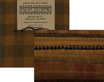 Primitive Gatherings Hand-Dyed Wool Charm Pack - Mustard - PRI-6009