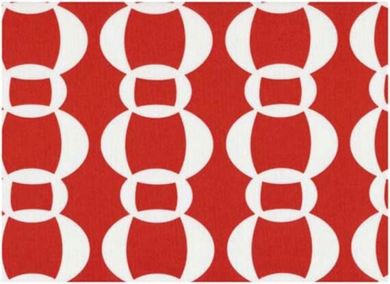 Stof En Y Dinamarca Óvalos Gráficos Blanco Puros 1 Por Rojo De Yarda j3AR54Lcq