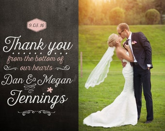 blackboard wedding thank you card design - Wedding Thank You Cards
