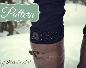 Boot cuff with button Crochet Pattern
