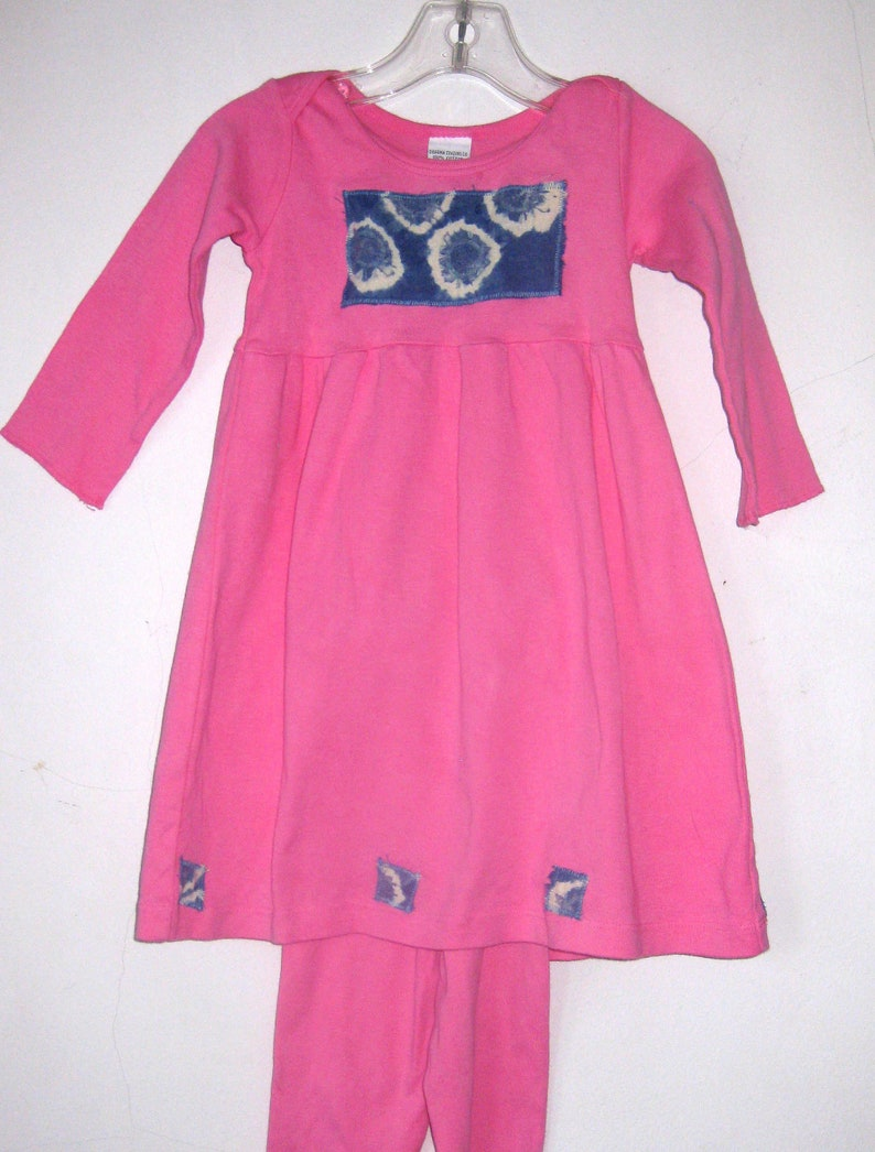 Pink Dress With Leggings 12 mos  2t image 0