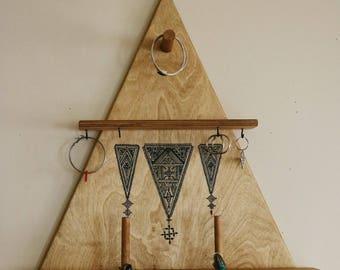 wooden shelf jewelry organizer hanging shelf jewelry