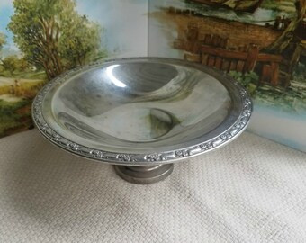 Oneida Silverplate Pedestal Dish