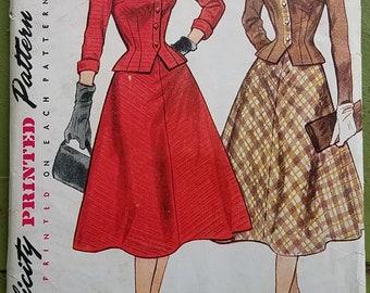"""Vintage Simplicity 8491 Two Piece Suit Dress Size 14 Bust 32"""""""