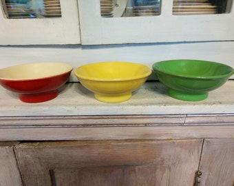 Three Vintage Halls Bowls
