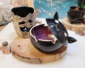 Chonky Black Bat Candy Bowl