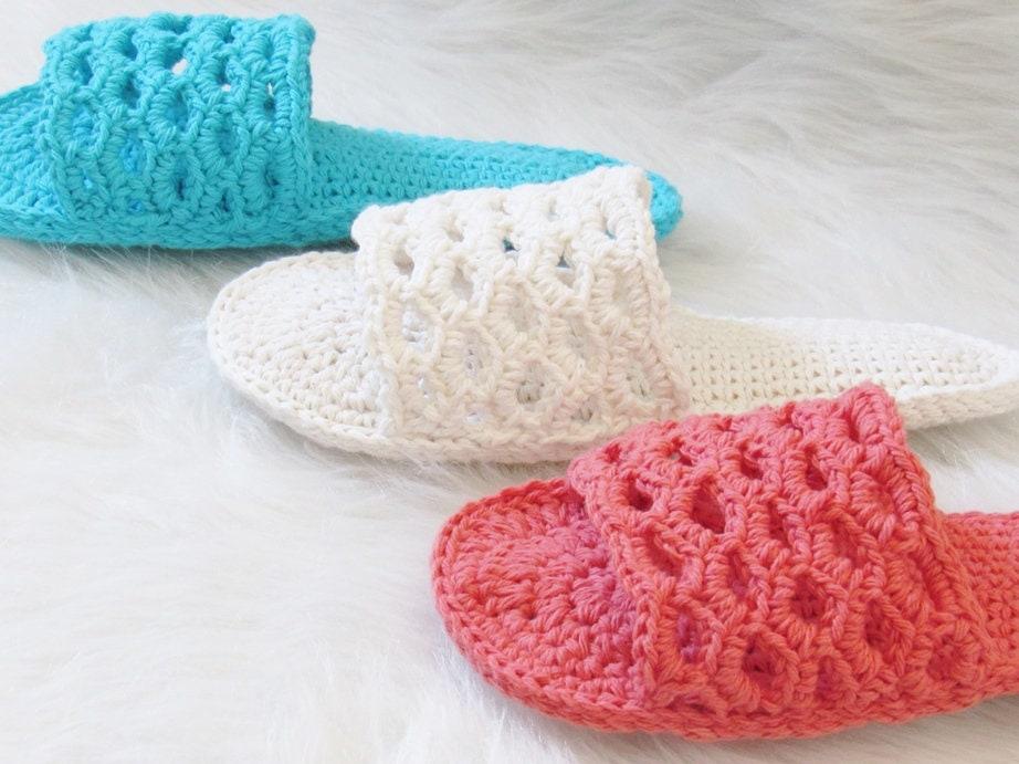 Crochet Slipper Pattern Crochet Womans Slipper Pattern Etsy