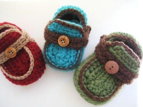 Boys Moccasins Crochet Baby Booties Pattern Pdf Pattern