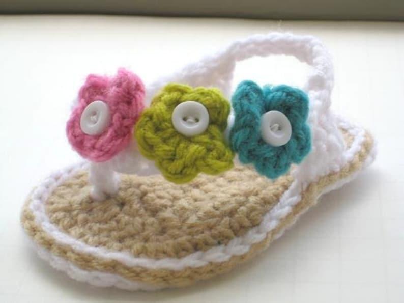 d9b73538902856 Crochet Pattern Flip Flops Baby Flip Flops or Thongs for