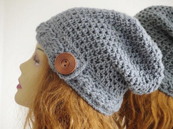 Crochet Pattern Crochet Slouchy Hat Pattern Slouchy Beanie Etsy