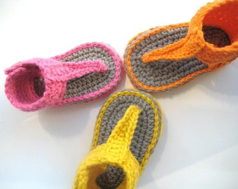 Crochet Pattern for Baby Sandals or Booties  - Pdf Pattern - Gladiator Sandals