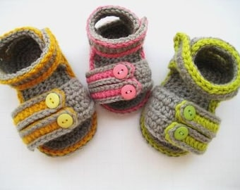 Crochet Pattern Baby Booties or Sandals( pdf pattern)2- Sporty Sandals