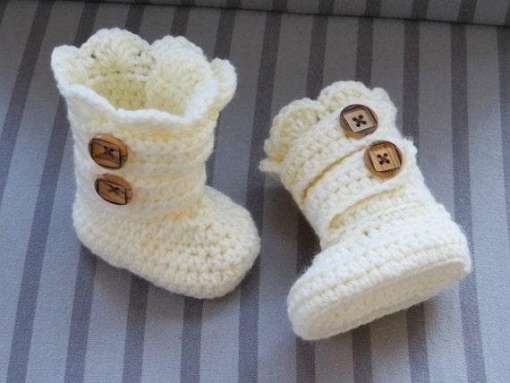 Crochet Baby Pattern Crochet Baby Boots Pattern Classic