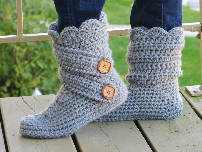 Crochet Womans Slipper Pattern Boots Crochet Pattern Etsy