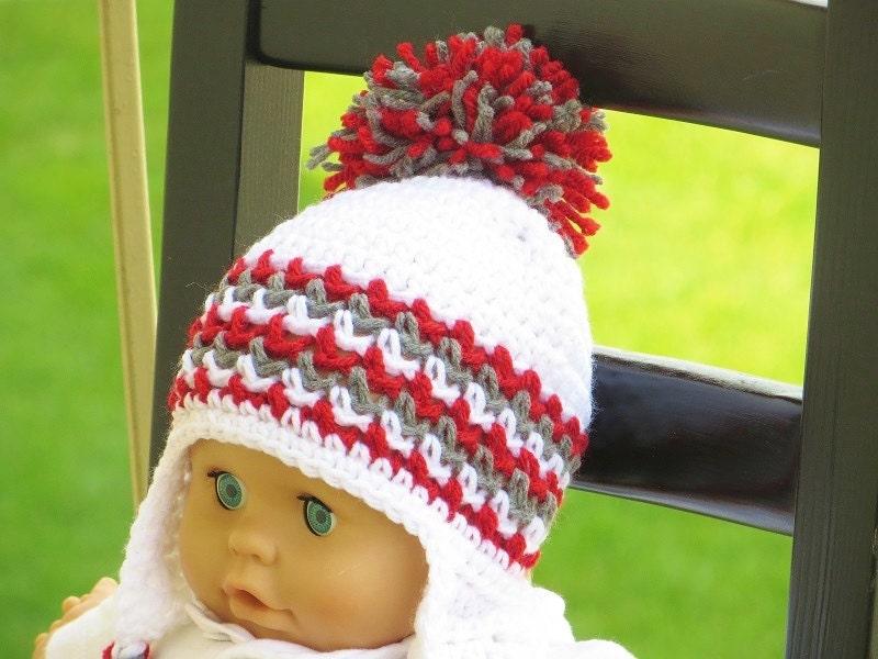 Crochet Ear Flap Hat Pattern Crochet Baby Pattern Crochet Etsy