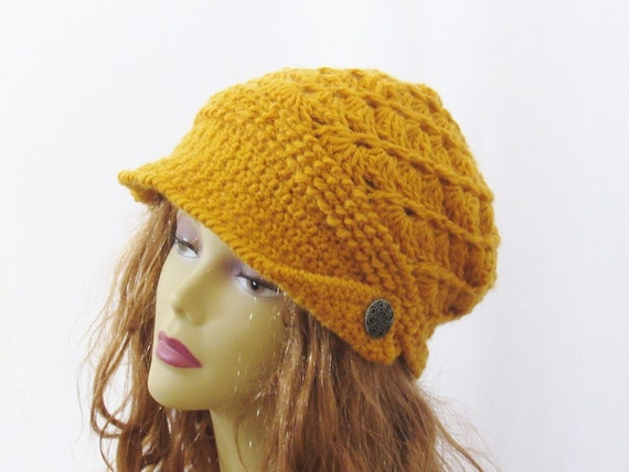 Newsboy Hat Crochet Pattern Audrey Newsboy Hat 4 Sizes 6 Etsy