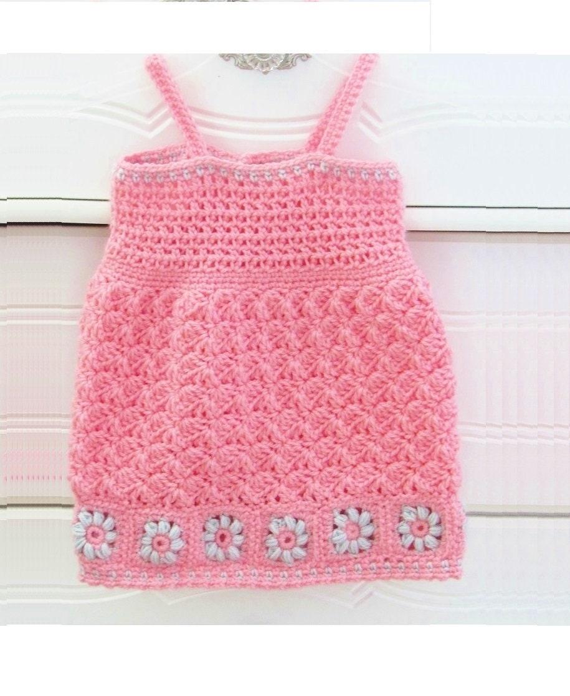 Crochet Baby Dress Pattern Crochet Baby Sundress Pattern Etsy