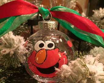 elmo big bird cookie monster hand painted personalized ornament