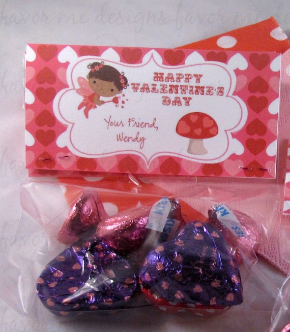 DIY Printable Fairy Valentine Treat Bag Topper