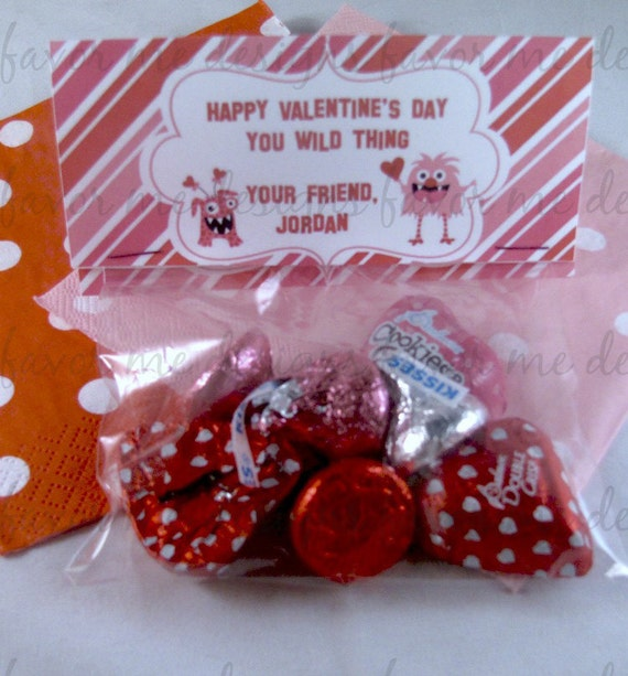 1 Dozen Monster Valentine Treat Bags