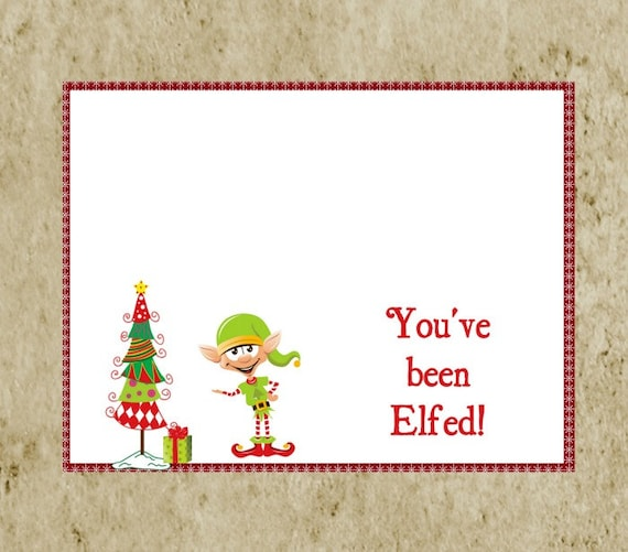 DIY Printable ELF Treat Bag Topper-