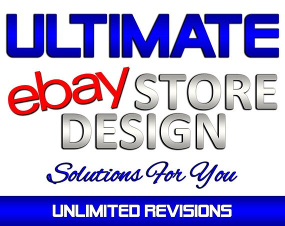 Custom Ebay Store Shop Design Ebay Billboard Banner Design Etsy