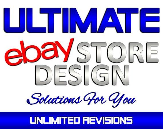 Custom Ebay Store Shop Design Ebay Billboard Banner Design Etsy