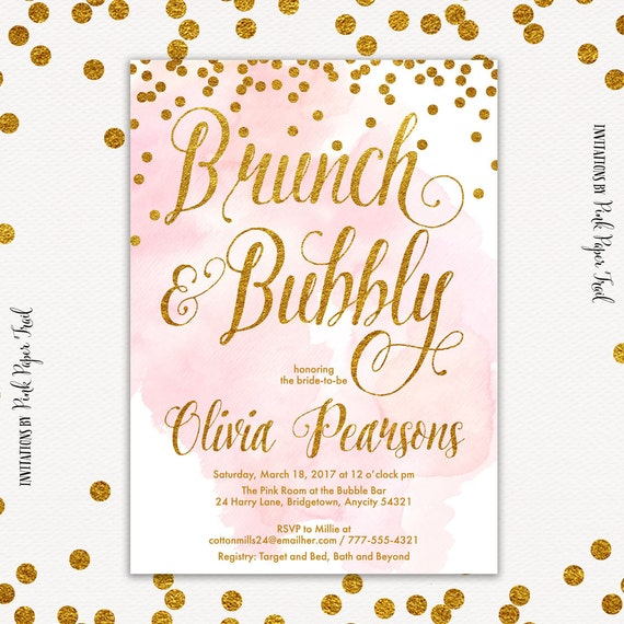 75e9f89758f4 Brunch and Bubbly Bridal Shower Invitation