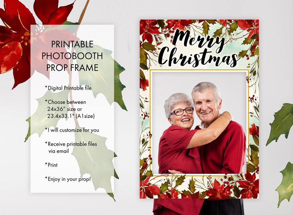 Christmas Holiday Season Yuletide Season Photo Booth Prop   Etsy