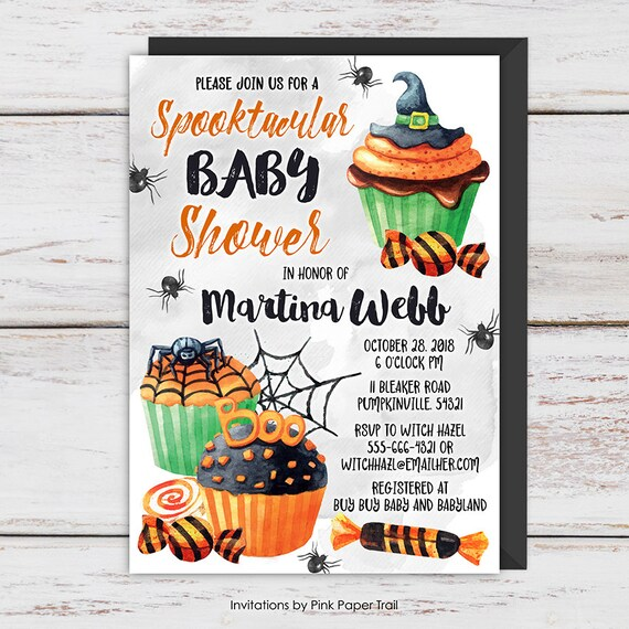 Halloween Baby Shower Invitation Spooktacular Baby Shower Invite