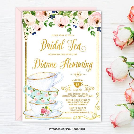 5553c2e99fa Bridal Shower Tea Party Invitation