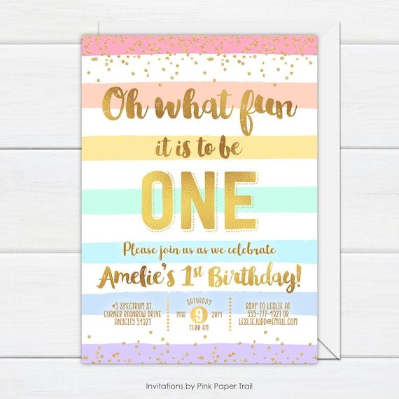 Simple 20th birthday invitation Striped pastel color birthday invitation with envelopes Printed Invitation Elegant Pastel invitation