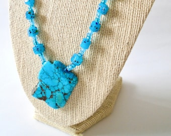 Hipster Collar Delicate Choker Statement Jewelry Crochet Collier Teal OOAK Necklace Boho Choker Victorian Necklace Handmade Choker