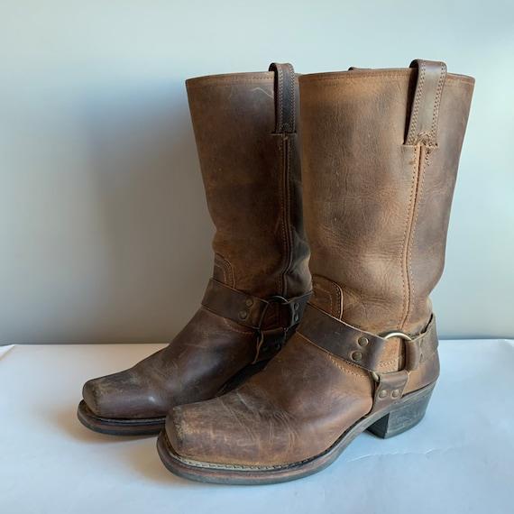 FRYE 77300 Biker Boot Harness Boots Womens 8.5 Bro
