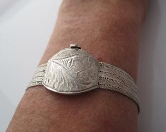 Turkish Bracelet, Trabzon Jewelry, Hand Woven,  Silver Mesh Jewelry, Turkish Bangle, Turkey Jewelry, Ethnic Jewelrly